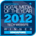 Marketing Digital Media of the year 2012 Website Winner Singapore