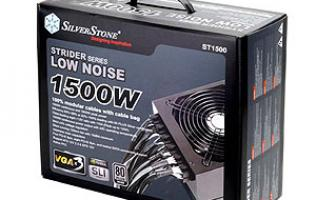 First Looks: SilverStone Strider 1500W PSU