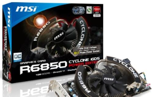 MSI Launches R6850 Cyclone 1GD5 Power Edition