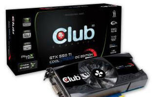 Club 3D Announces the New Nvidia GTX 550Ti CoolStream OC Edition