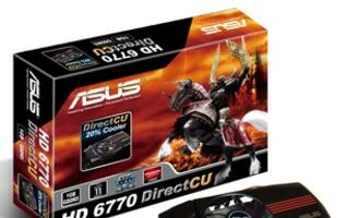 ASUS Launches HD 6770 DirectCU and HD 6750 Formula Graphics Cards