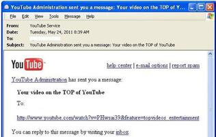 Pharmaceutical Spam Campaign Abusing YouTube Brand