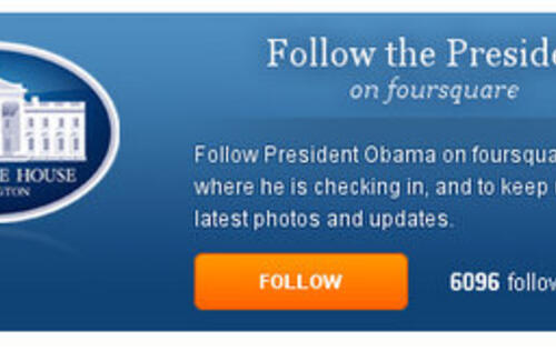 Live Vicariously as US President Obama Via Foursquare