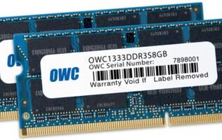 OWC 8GB Memory Modules Supercharge 2011 Apple MacBook Pro and Mac Mini