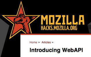 Mozilla Introduces WebAPI