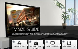 Sony Unveils Augmented Reality TV Size Guide