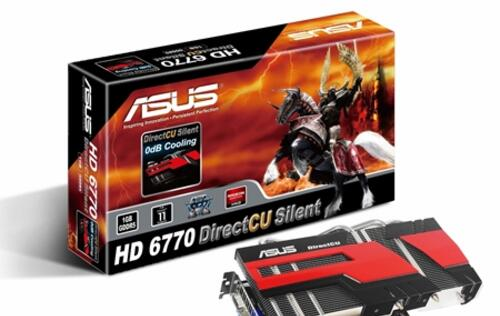 Asus Releases the New HD 6770 DirectCU Silent Graphics Card
