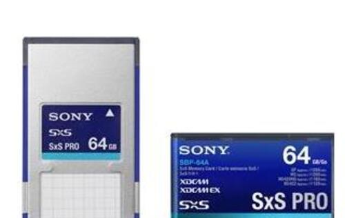 Sony Expands SxS Series with High Speed SxS PRO 64GB