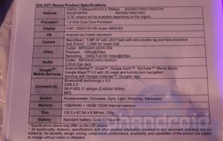 Samsung Galaxy Nexus - Official Specs and Press Release Unveiled