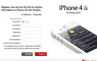 SingTel Prices for iPhone 4S Announced