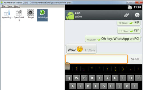 Use WhatsApp on your PC with Android Emulator