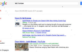 "Google ""Let It Snow"" for a Winter Surprise"