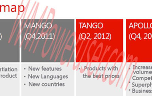 Windows Phone Roadmap Leaked, Tango and Apollo Updates in Q2 and Q4 2012