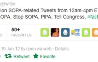 More Than 2.4M Tweets About SOPA, Says Twitter
