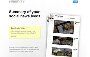 Summify Heads For Twitter's Nest