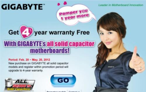 Gigabyte Motherboards' Warranty Increased to 4 Years