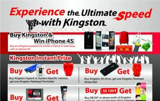 Purchase Any Kingston Product and You Could Walk Away with an iPhone 4S!
