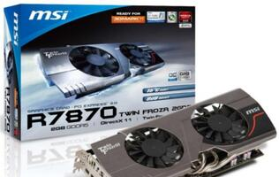 MSI Releases R7800 Twin Frozr Series