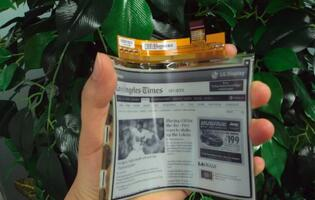 LG's Plastic Electronic Paper Display Aims at E-book Readers
