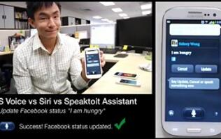 S Voice, Siri and Speaktoit Assistant - Three Voice App Musketeers Face-Off