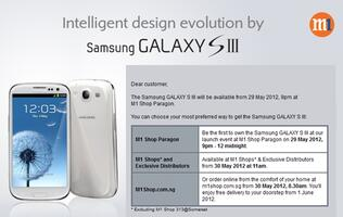 StarHub and M1 to Retail Samsung Galaxy S III on 29th May, 9pm (Update)