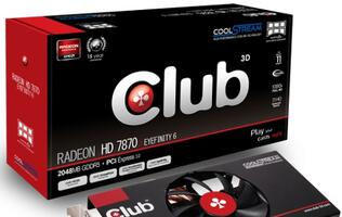 Club 3D Unleashes Its Radeon HD 7870 Eyefinity 6