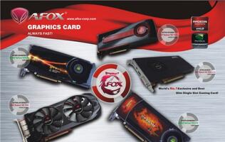 AFOX Will Showcase Its Most Powerful Slim Design Graphics Card at Computex