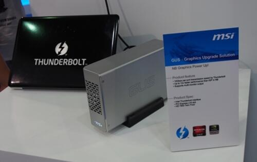 MSI Goes GUS (Graphics Upgrade Solution) for Thin and Light Notebooks