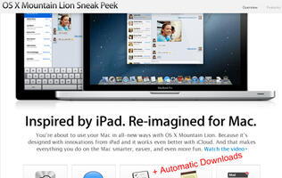 Automatic App Download Might Debut in OS X Mountain Lion