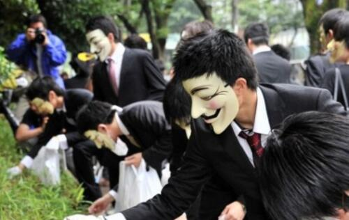 Anonymous Picks Up Litter To Protest Japanese Piracy Laws