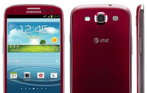 Garnet Red Samsung Galaxy S III Exclusively Available For AT&T Users