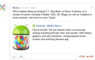 Google Rolls Out Android 4.1 OTA Update for Nexus S