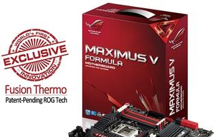 ASUS ROG Maximus V Formula Mobo with Fusion Thermo Technology Available Now!