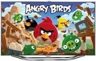 Samsung Catapults Angry Birds and Other Smart TV Apps