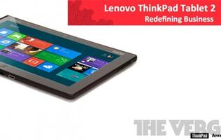 Lenovo Windows 8 ThinkPad Tablet 2 Leaked