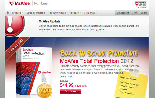 mcafee enterprise 8.8 latest dat update