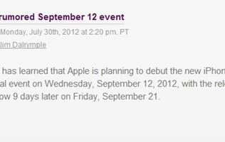 Apple To Hold Separate Events for iPhone 5 and iPad Mini?