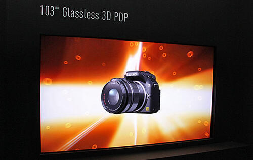 Panasonic Showcases 103-inch Glasses-Free 3D Plasma TV & 145-inch 8K PDP at IFA 2012