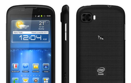 ZTE Unveils First ICS Phone with Intel Processor