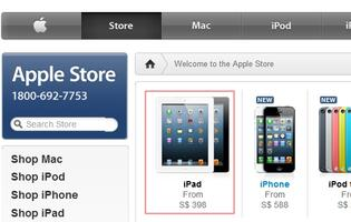 iPad Listed at S$398 on Apple Store Singapore After Update