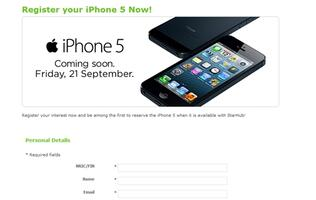 StarHub Joins SingTel and M1 in Registration of Interest for Apple iPhone 5 (Update)