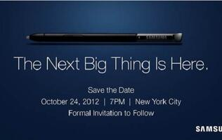 Samsung Galaxy Note II Launch in US Set for October 24th