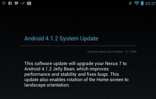 Google Rolls Out Android 4.1.2 Update for Nexus 7