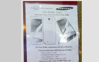 Pre-Orders for the Samsung Galaxy Note II Spotted