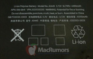 Latest Photo Leak of the iPad Mini Reveals Its Battery Capacity