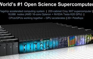 Titan Debuts with NVIDIA Tesla GPUs, Boasting Peak Performance of 20 Petaflops