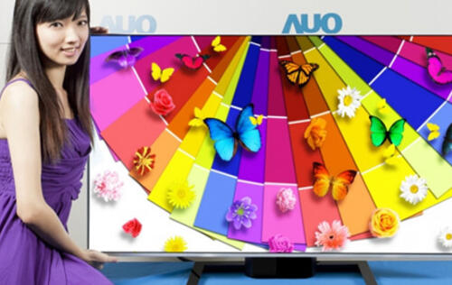 AUO Shows Off 65-inch 4K TV IGZO TV Panel Technology