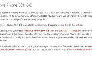 Windows Phone 8 SDK Finally Made Available