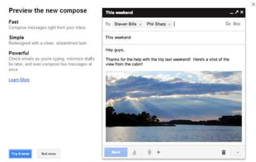 Google Introduces New 'Compose' Screen in Gmail