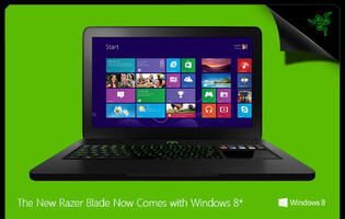Razer Blade Now Comes with Windows 8